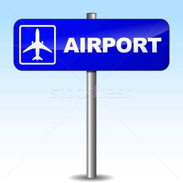 Vector airport sign Stock photo © nickylarson974