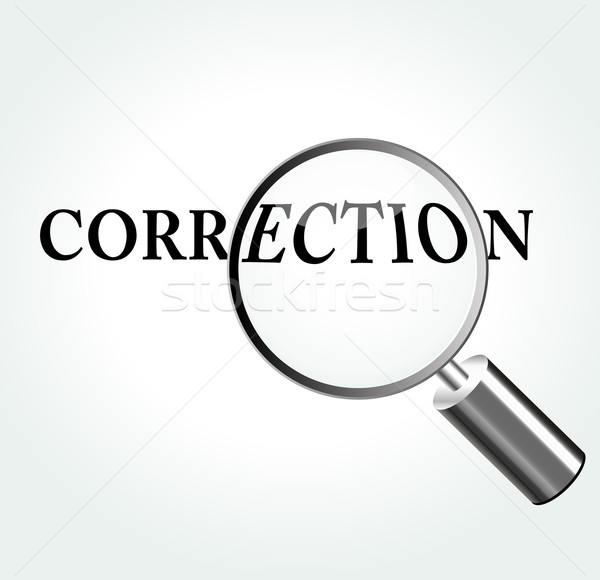 Vector correction concept illustration Stock photo © nickylarson974