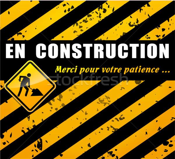 Inşaat web sitesi sayfa fransız çeviri Internet Stok fotoğraf © nickylarson974