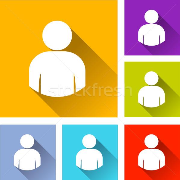 user icons Stock photo © nickylarson974