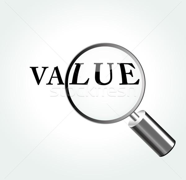 Vektor érték illusztráció nagyító absztrakt pénzügy Stock fotó © nickylarson974