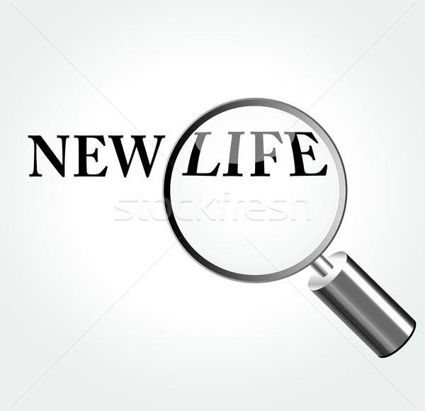 Vektör yeni hayat magnifying soyut arka plan seyahat Stok fotoğraf © nickylarson974