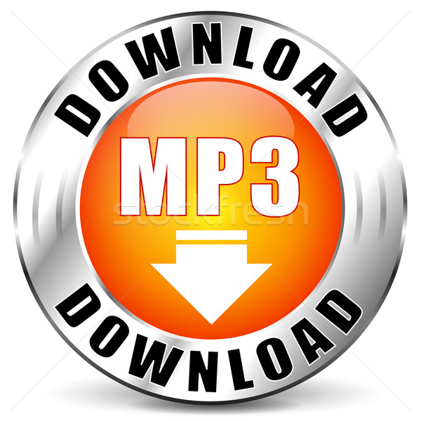 Vektor mp3 Download Icon download orange Symbol Stock foto © nickylarson974