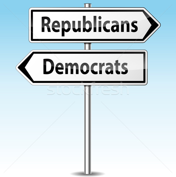 Vector democrats and republicans directions concept Stock photo © nickylarson974