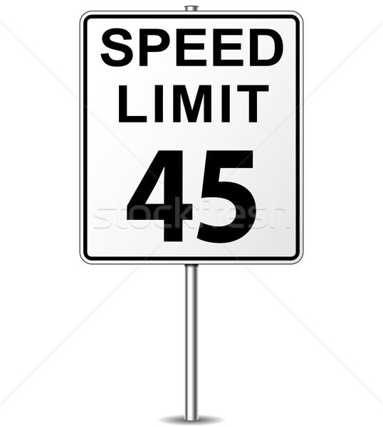 Stok fotoğraf: Vektör · hız · limiti · imzalamak · kırk · beş · tabelasını