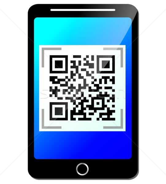 Wektora qr code telefonu telefonu komórkowego działalności technologii Zdjęcia stock © nickylarson974