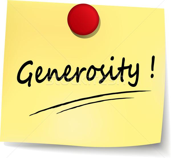 generosity yellow note Stock photo © nickylarson974
