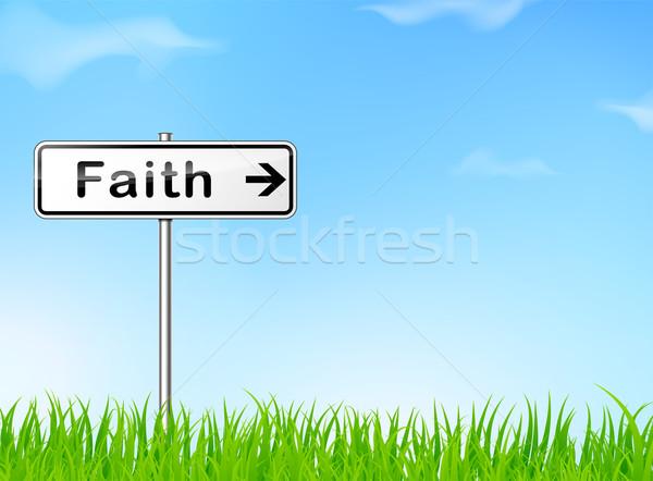 веры направлении знак иллюстрация природы любви Сток-фото © nickylarson974