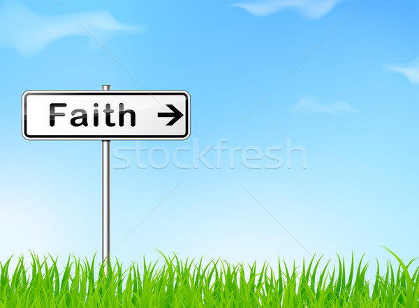 faith direction sign Stock photo © nickylarson974