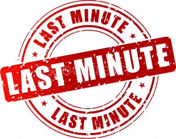 Last minute stamp Stock photo © nickylarson974