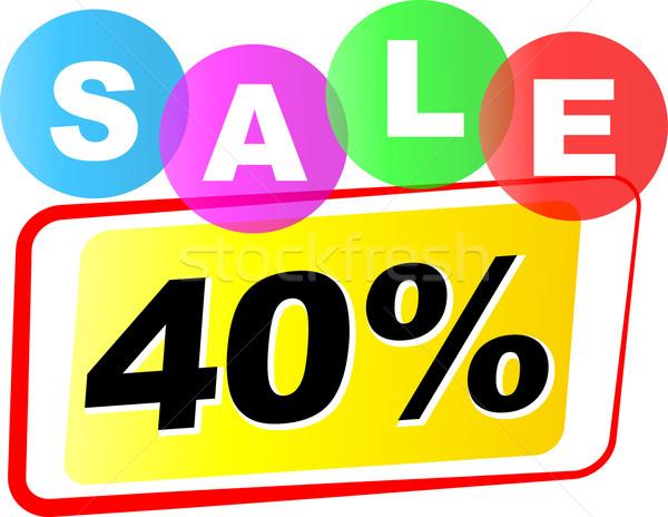 Vecteur quarante pour cent vente icône blanche Photo stock © nickylarson974