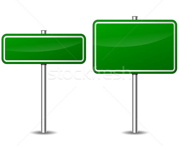 Vector green road sign Stock photo © nickylarson974