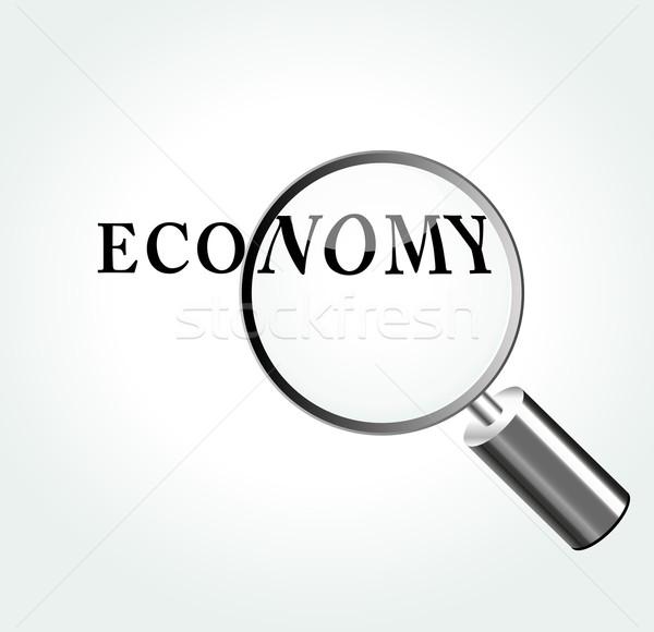 Vector economía aumento negocios papel diseno Foto stock © nickylarson974