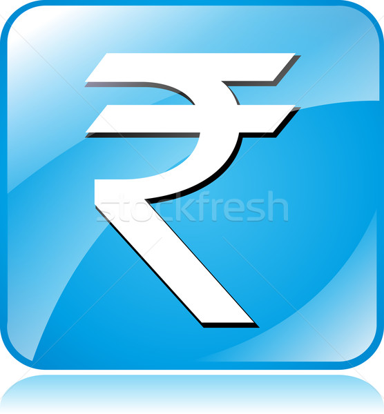 rupee icon Stock photo © nickylarson974