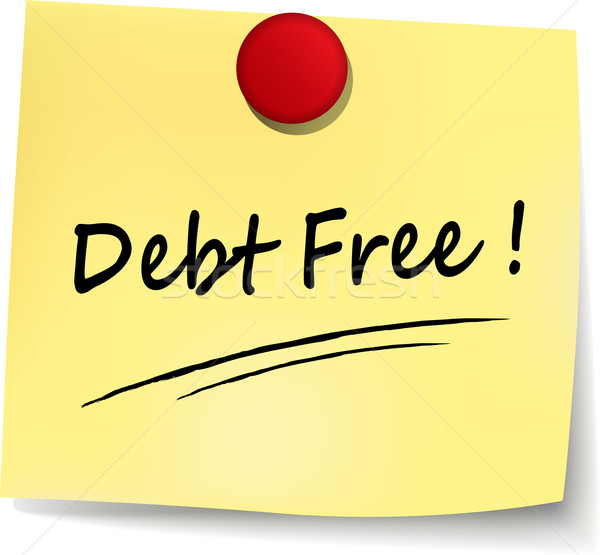 debt free note Stock photo © nickylarson974