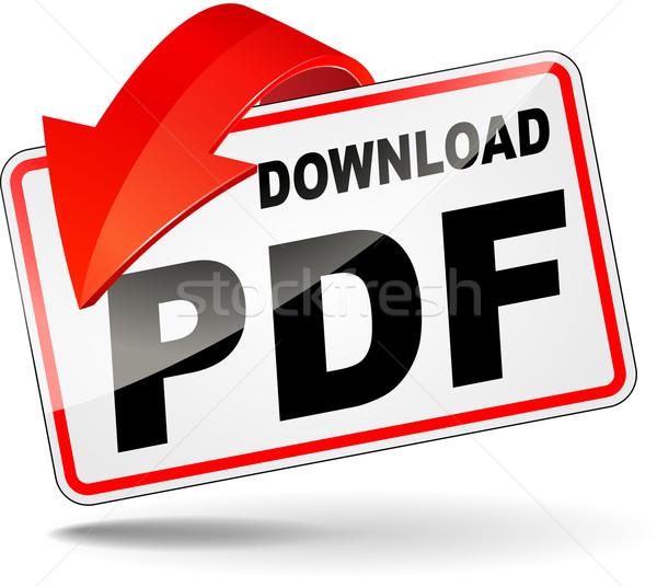 Pdf ícone baixar ilustração branco computador projeto Foto stock © nickylarson974