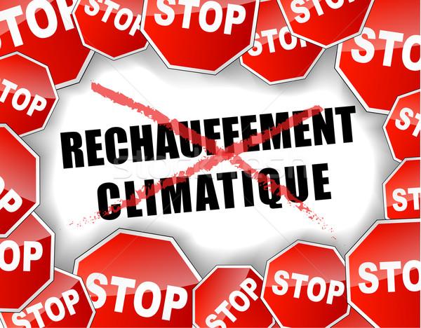 Stop globális felmelegedés természet háttér füst piros Stock fotó © nickylarson974
