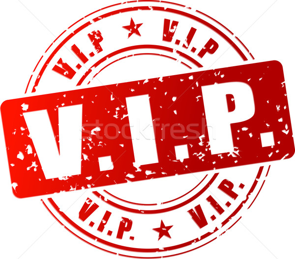 Vector vip stempel Rood icon club Stockfoto © nickylarson974