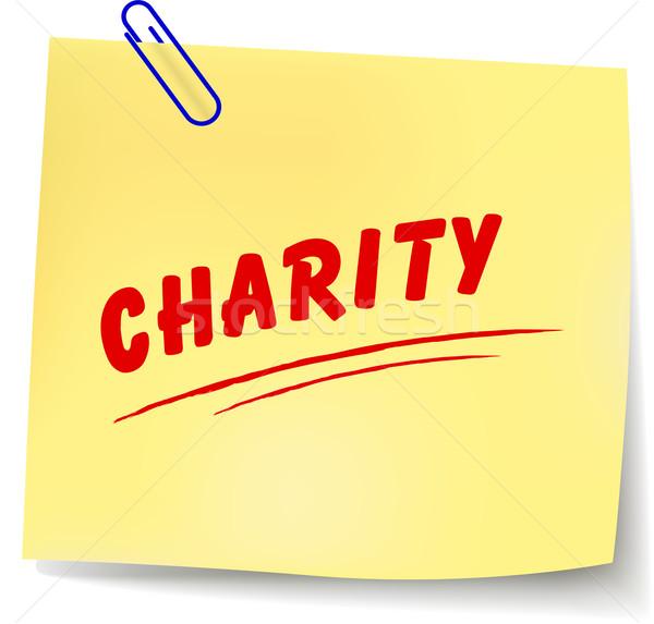 Сток-фото: вектора · благотворительность · сообщение · белый · бумаги · аннотация