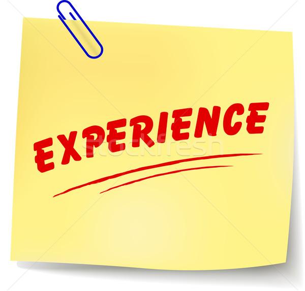 Vektor Erfahrung Nachricht weiß abstrakten Design Stock foto © nickylarson974