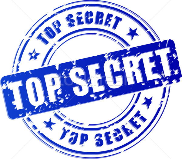 Stock photo: Vector top secret blue stamp