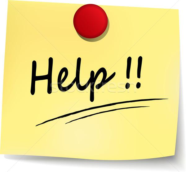 help yellow note Stock photo © nickylarson974