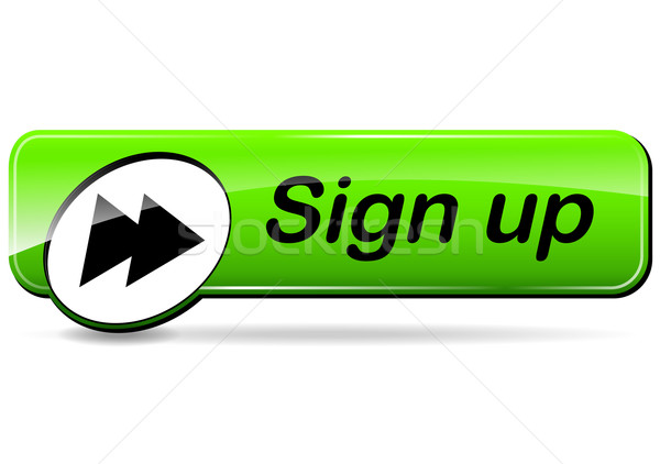 sign up green web design button Stock photo © nickylarson974