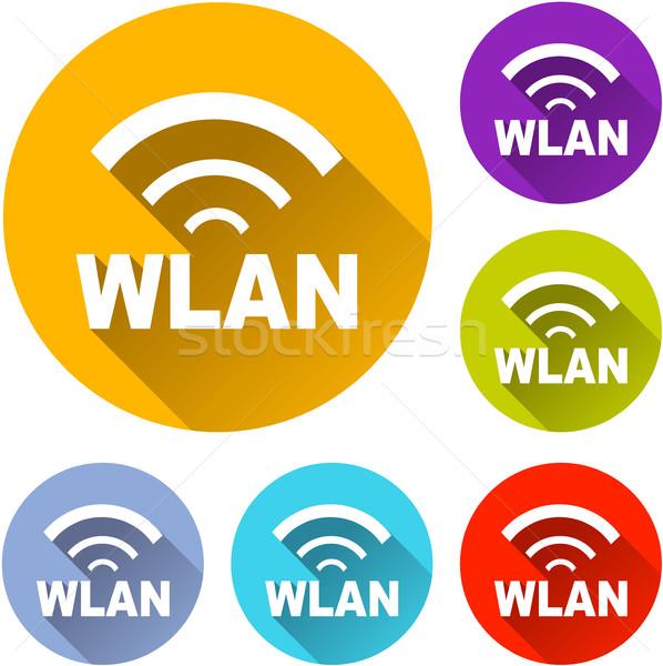 six wlan icons  Stock photo © nickylarson974