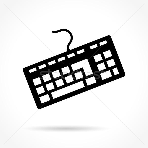 Billentyűzet ikon fehér illusztráció számítógép Stock fotó © nickylarson974