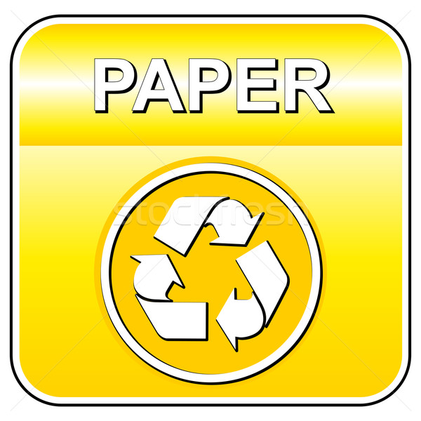 Stockfoto: Vector · papier · recycleren · teken · icon · witte