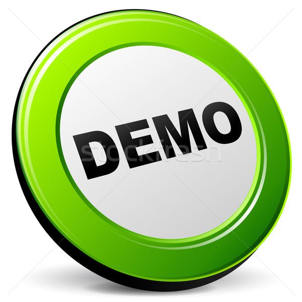 Stock photo: Vector demo 3d icon