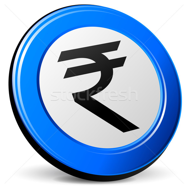 Vector 3d rupee icon Stock photo © nickylarson974