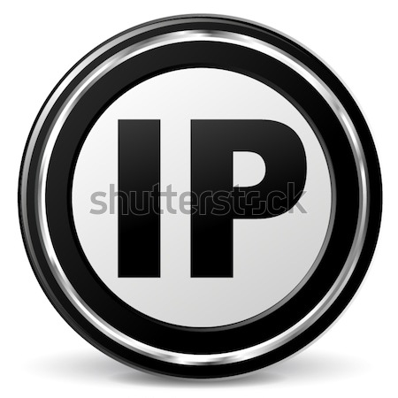 Vector ip adres icon zwarte chroom Stockfoto © nickylarson974