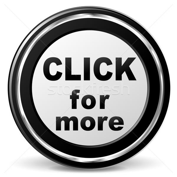 Vector clic más icono negro cromo Foto stock © nickylarson974