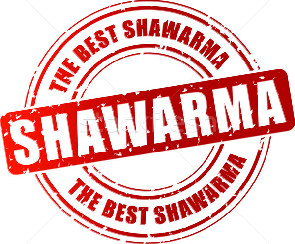 Vector shawarma stamp Stock photo © nickylarson974