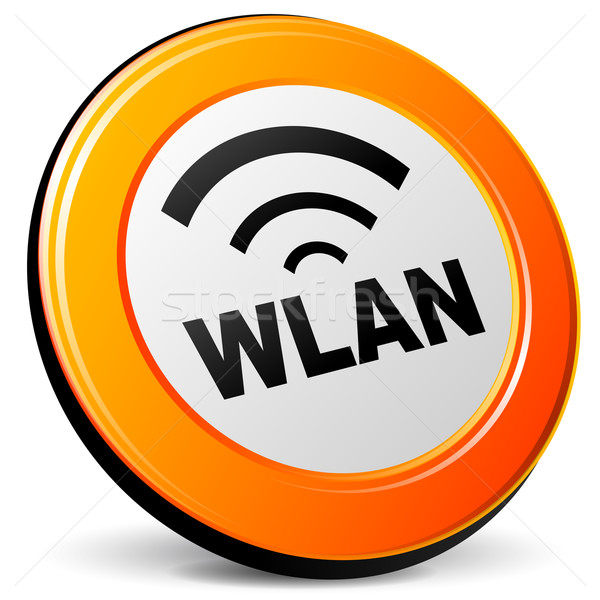 Vector wlan icon Stock photo © nickylarson974