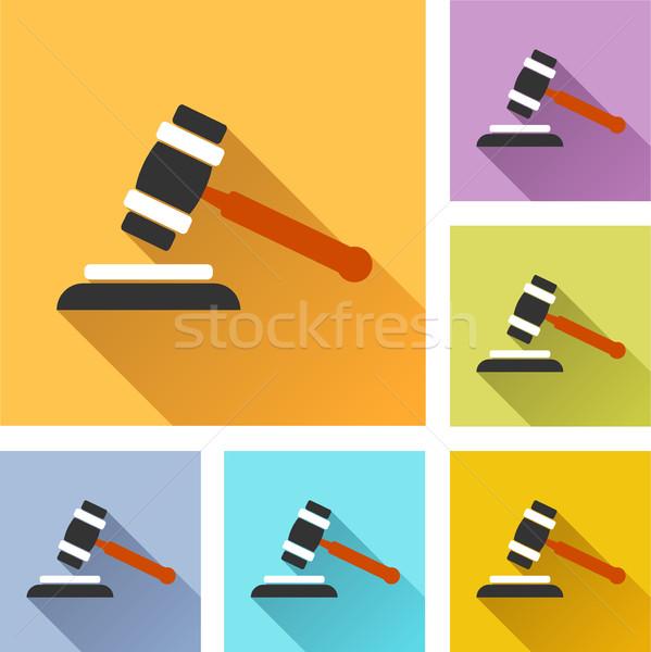 Veiling ingesteld iconen illustratie kleurrijk ontwerp Stockfoto © nickylarson974