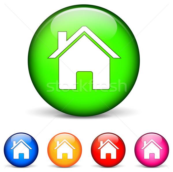 Home round icons Stock photo © nickylarson974
