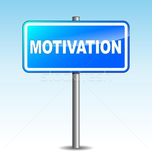 Vector blue motivation signpost Stock photo © nickylarson974
