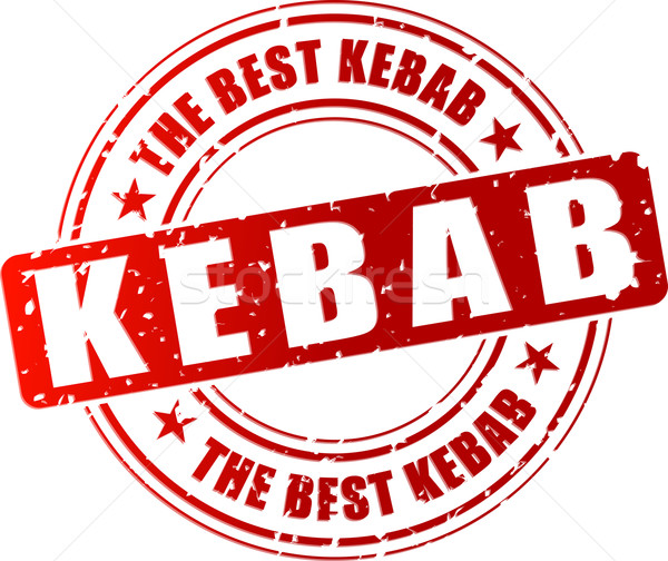 Vector kebab stempel best Rood business Stockfoto © nickylarson974