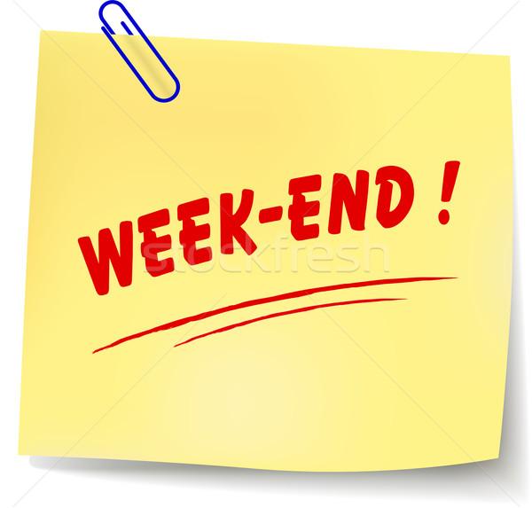 Vector week-end message Stock photo © nickylarson974