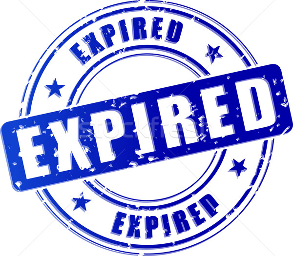 expired blue stamp icon Stock photo © nickylarson974