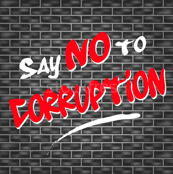 no corruption graffiti Stock photo © nickylarson974