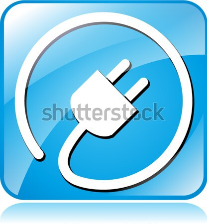 электрических Plug икона иллюстрация тень дизайна Сток-фото © nickylarson974