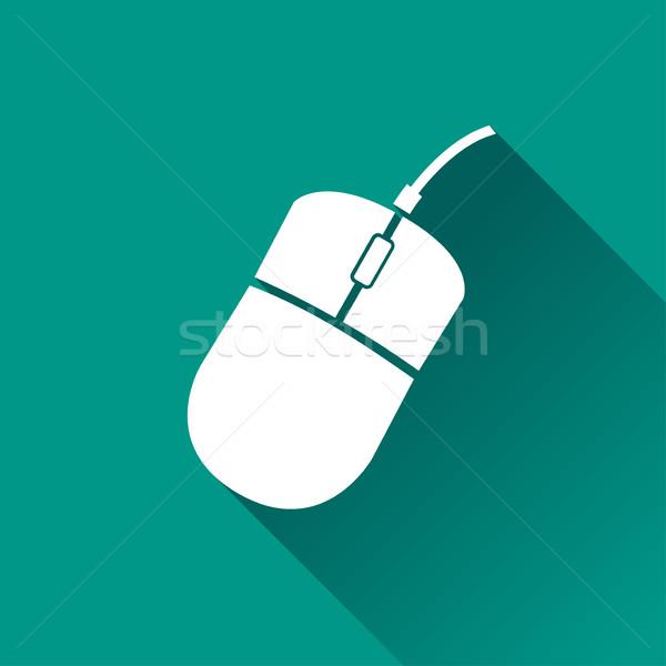Bilgisayar fare ikon örnek gölge Internet dizayn Stok fotoğraf © nickylarson974