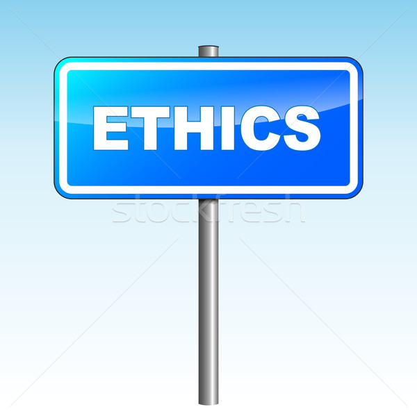 Vector ethics signpost Stock photo © nickylarson974