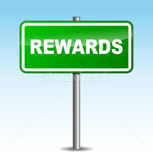 Vector rewards signpost Stock photo © nickylarson974