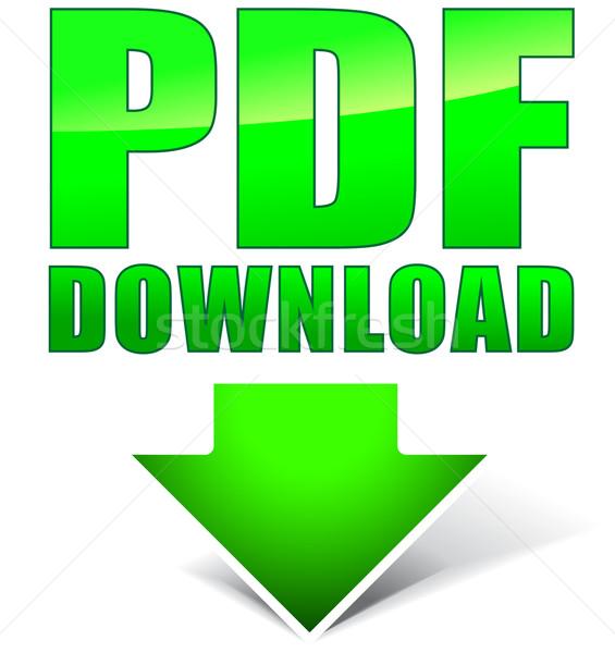 Pdf baixar assinar verde branco teia Foto stock © nickylarson974