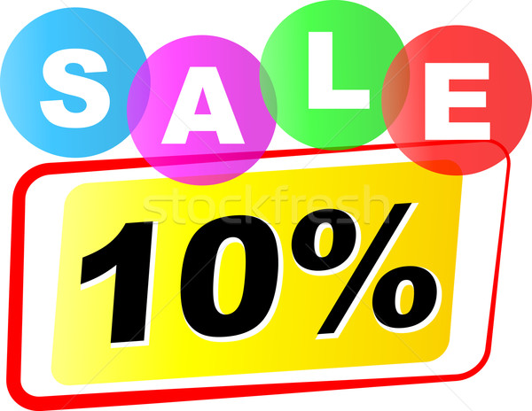 Vector ten percent sale icon Stock photo © nickylarson974