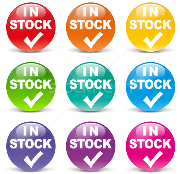 Vector available icons Stock photo © nickylarson974